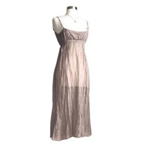Crepe Linen Slip Dress